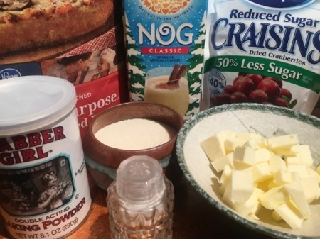 Cranberry Eggnog Scones ingredients