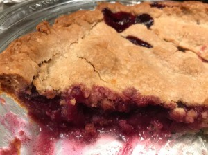 cut Blueberry Apple Pie