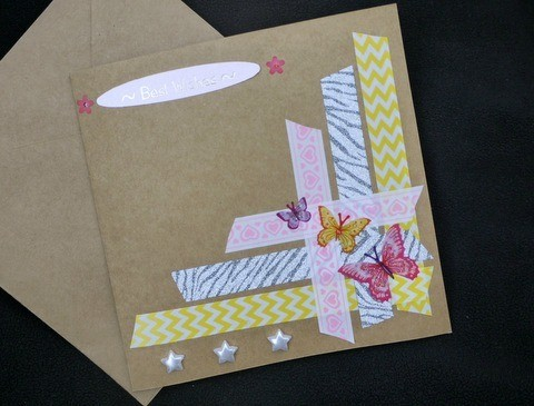 Handcrafted Greeting Card with Stickers and Tape | ThriftyFun