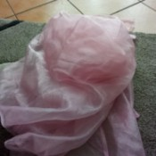 Bleaching Pink Organza-like Curtains