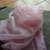 Bleaching Pink Organza-like Curtains