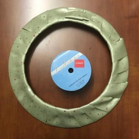 Inexpensive Ribbon Wreath  - back or wreath