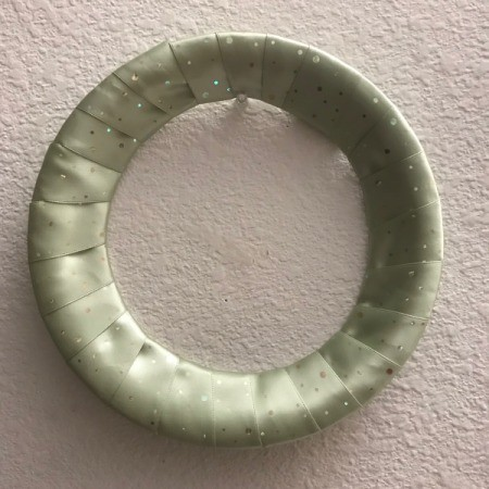 Inexpensive Ribbon Wreath - plain ribbon wrapped wreath