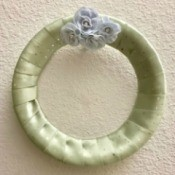 Inexpensive Ribbon Wreath