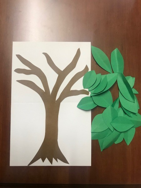Thankful Tree - glue tree to background construction paper