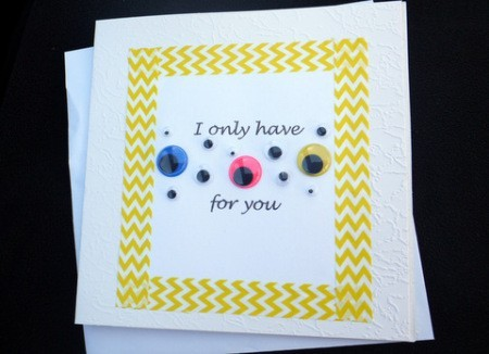 Eyes for You Greetings Card - done