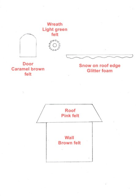 Gingerbread House Christmas Collage - patterns for house parts