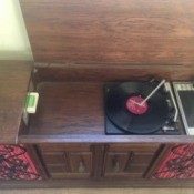 Value of Vintage Symphonic Record Player  - cabinet floor model turn table and tape deck