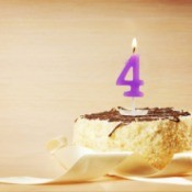 Birthday Cake with 4 Candle