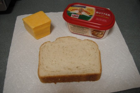Crisp Grilled Cheese Sandwich ingredients