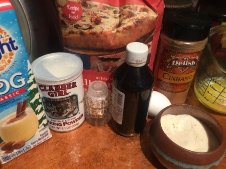 Eggnog Bread ingredients