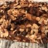 Chocolate Almond Topped Banana Bread on rack