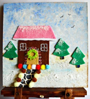 Gingerbread House Christmas Collage - finished mini collage