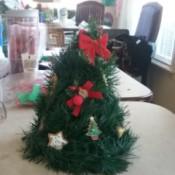 Christmas Tree Table Decoration - decorated tree
