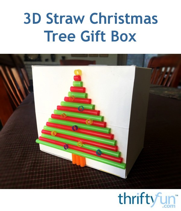 3d Origami Christmas Tree Today I Want To Share 3d: 3D Straw Christmas Tree Gift Box