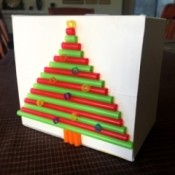 3D Straw Christmas Tree Gift Box - finished gift box