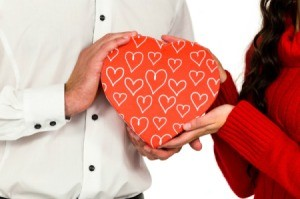 Heart Shaped Gift Being Given