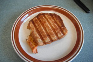 Crisp Grilled Cheese Sandwich on plate