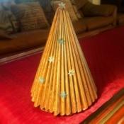 Magazine Christmas Tree - tree on coffee table