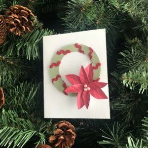Christmas Wreath and Tree Holiday Card