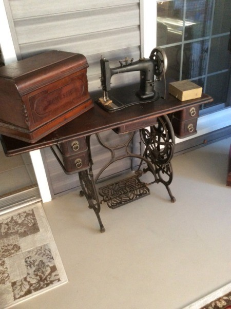 Finding The Value Of A New Domestic Treadle Machine