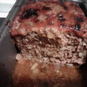meatloaf cooked in pan