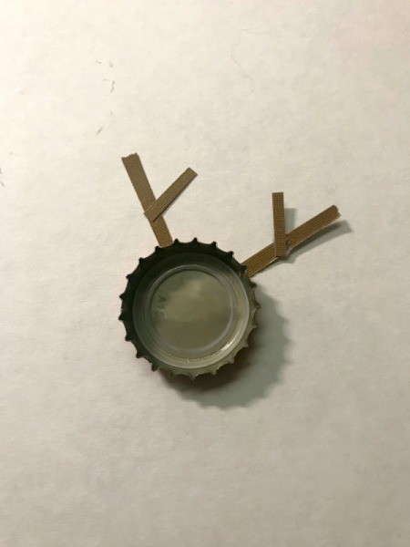 Bottle Cap Ornaments  - add side pieces