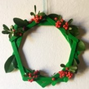 Popsicle Stick Wreath - finished wreath