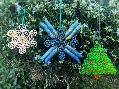 Pasta Christmas Ornaments - hang on your tree
