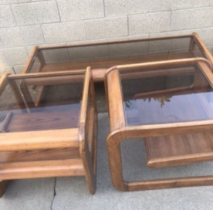Value of Lou Hodges Glass Top Coffee Table  - oak tables