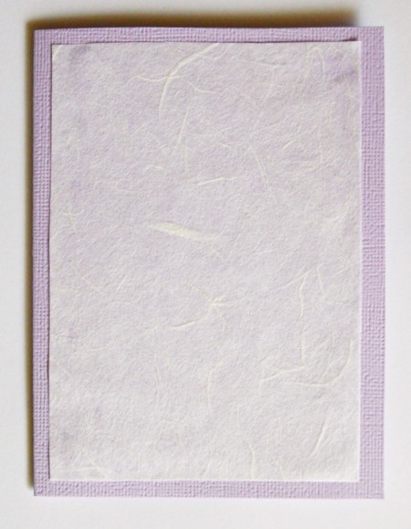 Easy Light Purple Christmas - Stationery - glue tissue paper to front of the card