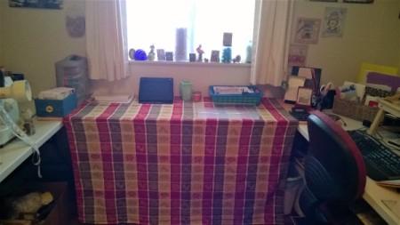 Bridge Table with Cedar Boards - ready to work