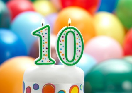 10th Birthday Candle