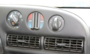 Car heater controls