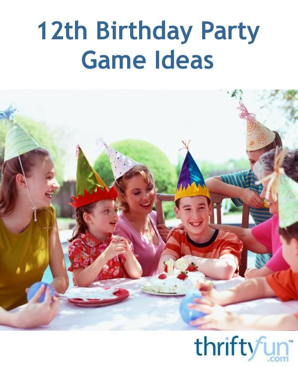 Stupendous 12Th Birthday Party Game Ideas Thriftyfun Interior Design Ideas Apansoteloinfo