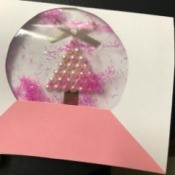 Christmas Snow Globe Card - finished card