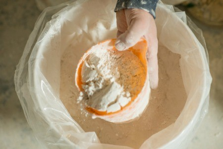 Bucket of Plaster of Paris
