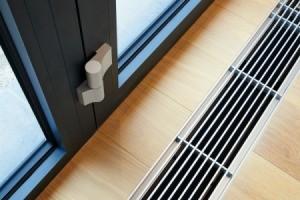 Heater vent in floor