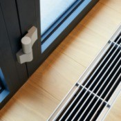 Heater vent in floor