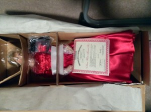 Value of Ashton Drake Galleries Princess Diana Dolls - doll wearing a formal red dress, in box