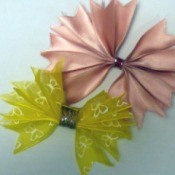 Pleated Ribbon Brooch - two finished pleated ribbon bows