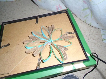 Christmas Flower Ornaments - finished green flower