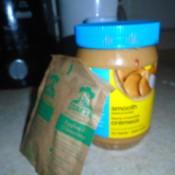 Add oatmeal into last of peanut butter jar.