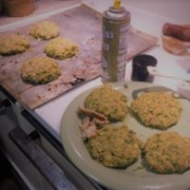 baking Rice Bean Burgers