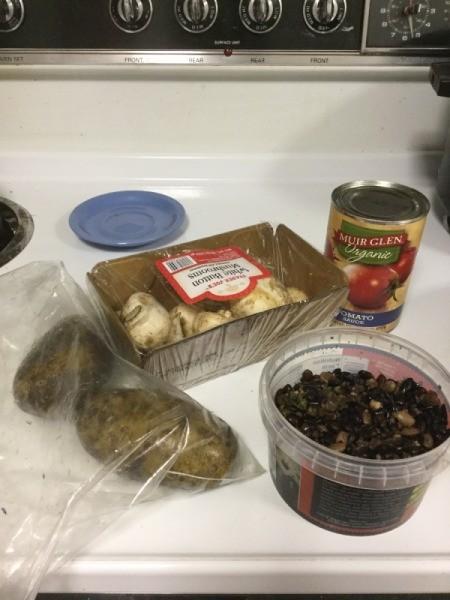 Bean and Potato Dish ingredients
