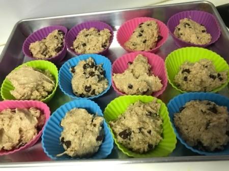 3/4 filled muffin cups