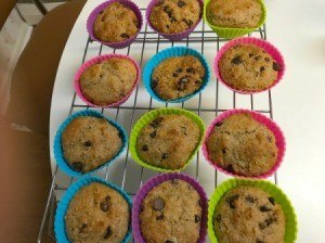 Sour Cream Chip Muffins cooling on rack