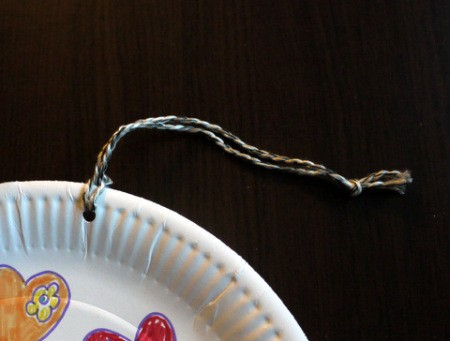 Hot Air Balloon Decoration - loop string through the top hole in plate