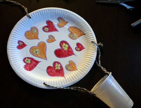 Hot Air Balloon Decoration - tie other ends to the plate