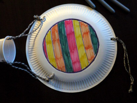 Hot Air Balloon Decoration - decorate the back of the plate if desired